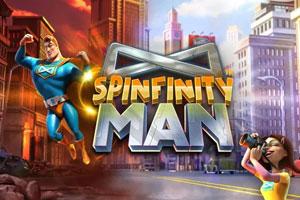 Spinfinity Man Slot Logo