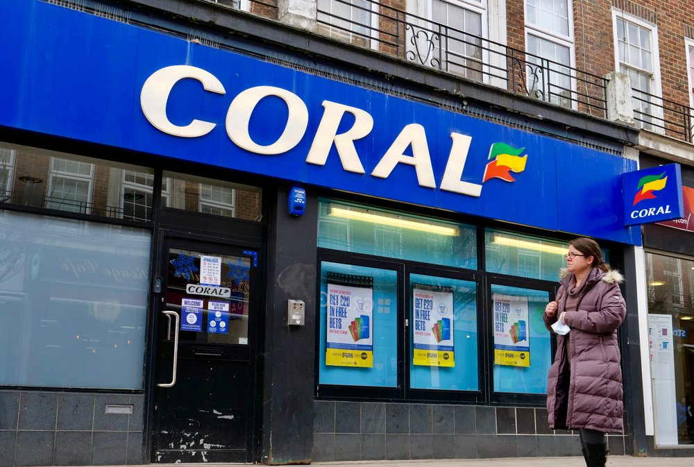 Coral betting shop in the UK